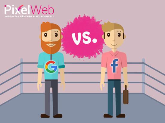 Facebook vs Google reklama titulka